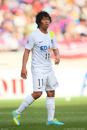 Hisato Sato (Sanfrecce), <br /> APRIL 18, 2015 - Football /Soccer : <br /> 2015 J1 League 1st stage match <br /> between F.C. Tokyo 1-2 Sanfrecce Hiroshima <br /> at Ajinomoto Stadium, Tokyo, Japan. <br /> (Photo by YUTAKA/AFLO SPORT) [1040]