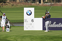 Alexander Levy (FRA) tees off the 6th tee during Sunday's Final Round of the 2014 BMW Masters held at Lake Malaren, Shanghai, China. 2nd November 2014.<br /> Picture: Eoin Clarke www.golffile.ie