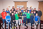 Prize night<br /> -------------<br /> Attending the Central Region GAA medal and cup presentation in the Kerins O'Rahilly's GAA clubhouse,Strand rd,Tralee last Thursday night.