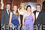 Enjoying the Kerry County Hunt club in the Killarney Avenue Hotel on Friday night front row l-r: Stephen Gamble, Larissa Gamble, Catriona Brosnan, John Dwyer and Kerry Anne Dwyer Killorglin..