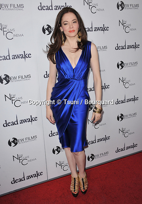 Rose McGowan  - Dead Awake Premiere at the Arclight Theatre In Los Angeles.