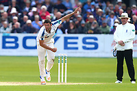 Tim Bresnan in bowling action for Yorkshire during Yorkshire CCC vs Essex CCC, Specsavers County Championship Division 1 Cricket at Scarborough CC, North Marine Road on 7th August 2017