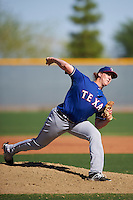 Texas Rangers pitcher Dylan Bice (74) during an Instructional League game against the Kansas City Royals on October 4, 2016 at the Surprise Stadium Complex in Surprise, Arizona.  (Mike Janes/Four Seam Images)