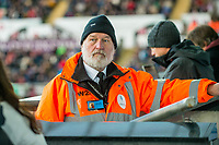 Steward <br /> Re: Behind the Scenes Photographs at the Liberty Stadium ahead of and during the Premier League match between Swansea City and Bournemouth at the Liberty Stadium, Swansea, Wales, UK. Saturday 25 November 2017