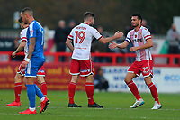 Danny Newton of Stevenage (19) scores the first goal for his team and celebrates during Stevenage vs Notts County, Sky Bet EFL League 2 Football at the Lamex Stadium on 11th November 2017