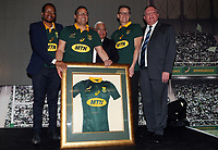 General views during the South African Official Springbok team photograph at the team hotel Southern Sun Pretoria Hotel,Pretoria South Africa. 9th June 2017(Photo by Steve Haag Sports)