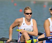 Brest, Belarus.  GBR BW4-, Bow, Jenny ARNOLD, , at the start.  2010. FISA U23 Championships. Thursday,  22/07/2010.  [Mandatory Credit Peter Spurrier/ Intersport Images]