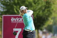 Brittany Lincicome (USA) tees off the 7th tee during Thursday's Round 1 of The Evian Championship 2018, held at the Evian Resort Golf Club, Evian-les-Bains, France. 13th September 2018.<br /> Picture: Eoin Clarke | Golffile<br /> <br /> <br /> All photos usage must carry mandatory copyright credit (&copy; Golffile | Eoin Clarke)