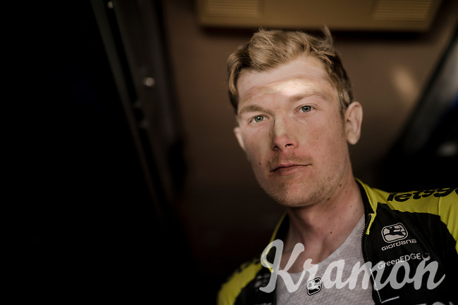 Nick Schultz (AUS/Mitchelton-Scott) post-race in the teambus<br /> <br /> 13th Strade Bianche 2019 (1.UWT)<br /> One day race from Siena to Siena (184km)<br /> <br /> ©kramon