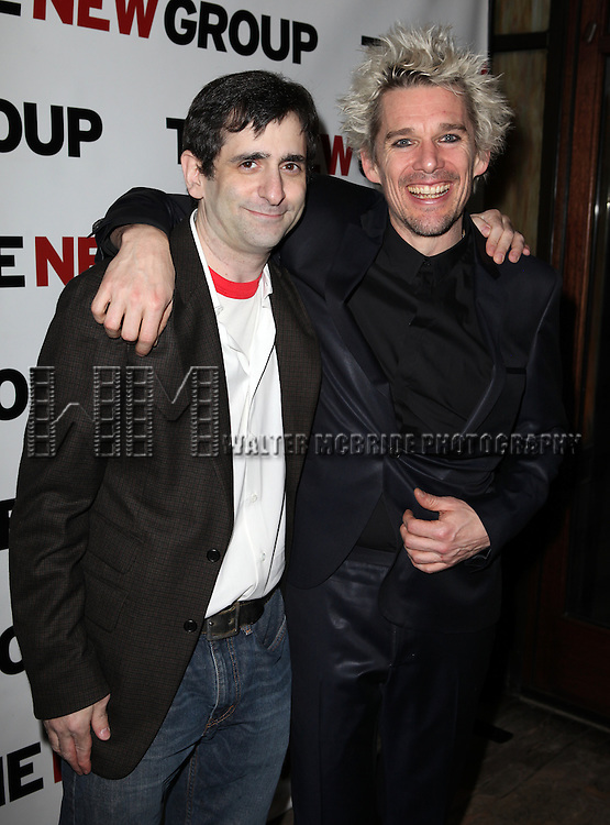 Jonathan Marc Sherman & Ethan Hawke attending Opening Night Party for the New Group World Premiere production of 'Clive' at the West Bank Cafe  in New York City on 2/7/2013