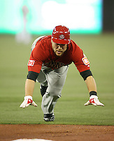March 7, 2009:  Catcher Russell Martin (55) of Canada during the first round of the World Baseball Classic at the Rogers Centre in Toronto, Ontario, Canada.  Team USA defeated Canada 6-5 in both teams opening game of the tournament.  Photo by:  Mike Janes/Four Seam Images