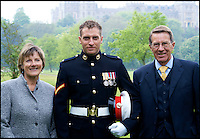 BNPS.co.uk (01202 558833)<br /> Pic: TimelessDeception/BNPS<br /> <br /> At a parade in London with parents Caroline and Chris.<br /> <br />  A hardened medic in the Special Boat Service has made a drastic career change - after starting out as a professional magician. <br /> <br /> Steel Johnson quit his 10 year military career after enduring two hellish tours of Iraq and Afghanistan.<br /> <br /> The 32-year-old is now fulfilling his childhood dream of performing magic full-time. <br /> <br /> Steel, whose real name is James, has practiced sleight of hand tricks since the age of nine.