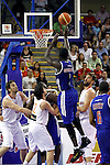 (L-R) Spain's Pau Gasol, Sergio Llull, Marc Gasol and Great Britain's Pops Mensah-Bonsu and Mike Lenzly during friendly match.July 9,2012.(ALTERPHOTOS/Alconada)