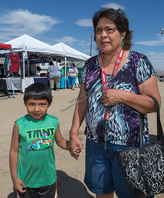 4-year old Lukas and grandma Joanne Gates at the Numaga Indian Days Pow Wow in Hungry Valley on Saturday, Sept. 3, 2016.