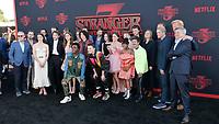 "LOS ANGELES - JUN 28:  Stranger Things, Cast at the ""Stranger Things"" Season 3 World Premiere at the Santa Monica High School on June 28, 2019 in Santa Monica, CA"