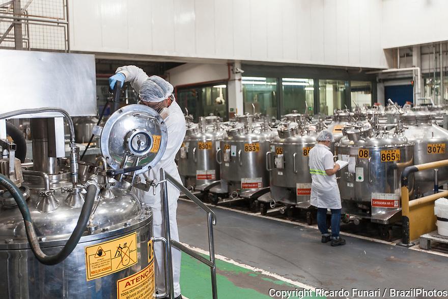 Multinational cosmetics company headquartered in France L`Oreal plant in Rio de Janeiro, Brazil - tub washing.