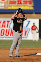Jared Simon #6 of the Modesto Nuts during a game against the High Desert Mavericks at Stater Bros. Stadium on June 29, 2013 in Adelanto, California. Modesto defeated High Desert, 7-2. (Larry Goren/Four Seam Images)