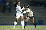 21 November 2014: North Carolina's Maya Worth (5) and Colorado's Tori Cooper (10). The University of North Carolina Tar Heels hosted the University of Colorado Buffaloes at Fetzer Field in Chapel Hill, NC in a 2014 NCAA Division I Women's Soccer Tournament Second Round match. UNC won the game 1-0 in overtime.