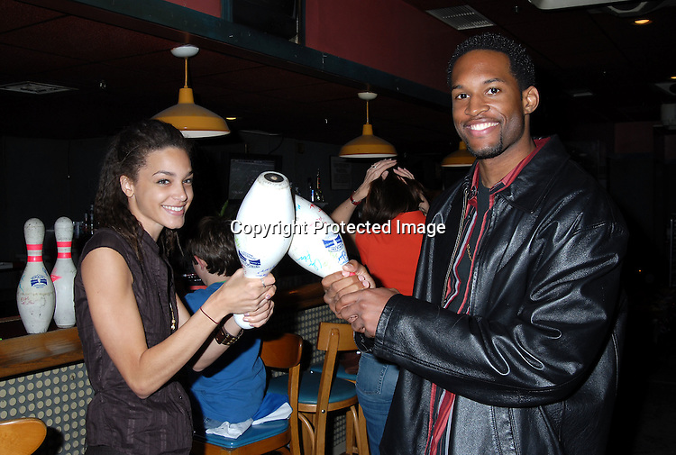 """Arielle Renwart and Lawrence Saint Victor ..at The """"Daytime Stars and Strikes"""" Bowling event on ..October 15, 2006 at The Leisure Time Bowling Center..at The Port Authority which benefitted The American Cancer Society. ..Robin Platzer, Twin Images"""