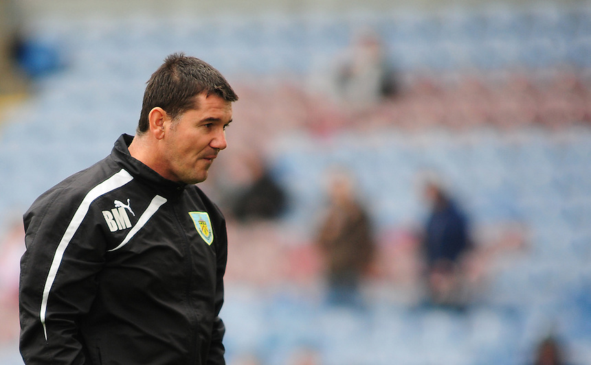Burnley's Goalkeeping Coach Billy Mercer during the pre-match warm-up <br /> <br /> Photo by Chris Vaughan/CameraSport<br /> <br /> Football - The Football League Sky Bet Championship - Burnley v Middlesbrough - Saturday 12th April 2014 - Turf Moor - Burnley<br /> <br /> &copy; CameraSport - 43 Linden Ave. Countesthorpe. Leicester. England. LE8 5PG - Tel: +44 (0) 116 277 4147 - admin@camerasport.com - www.camerasport.com