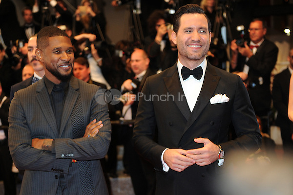 Usher Raymond IV and Edgar Ramirez at the 'Hands of Stone' screening during The 69th Annual Cannes Film Festival on May 16, 2016 in Cannes, France.<br /> CAP/LAF<br /> &copy;Lafitte/Capital Pictures /MediaPunch ***NORTH AND SOUTH AMERICA ONLY***