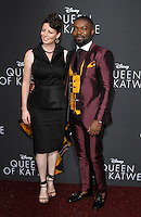 "20 September 2016 - Hollywood, California - David Oyelowo with wife Jessica Oyelowo. ""Queen Of Katwe"" Los Angeles Premiere held at the El Capitan Theater in Hollywood. Photo Credit: AdMedia"