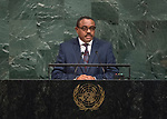 72 General Debate – 22 September <br /> <br /> Excellency Hailemariam Desalegn, Prime Minister of Federal Democratic Republic of Ethiopia