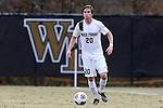 29 November 2015: Wake Forest's Hunter Bandy. The Wake Forest University Demon Deacons hosted the Indiana University Hoosiers at Spry Stadium in Winston-Salem, North Carolina in a 2015 NCAA Division I Men's Soccer Tournament Third Round match. Wake Forest won the game 1-0.