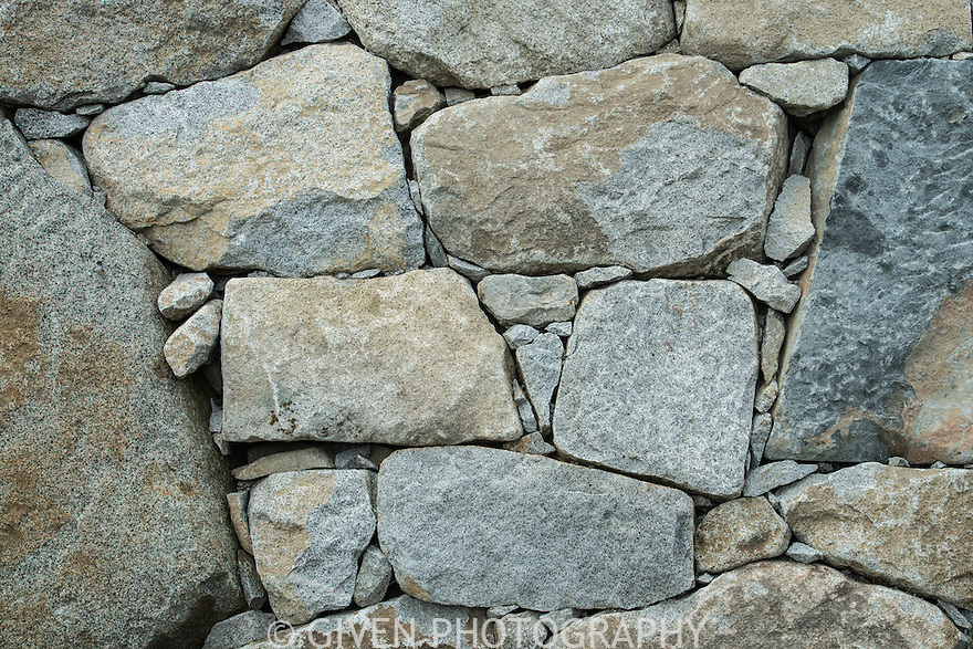 Stone wall in Japanese Garden