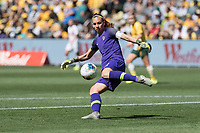 9th November 2019; Bankwest Stadium, Parramatta, New South Wales, Australia; International Womens Friendly Football, Australia versus Chile; Christiane Endler of Chile clears long upfield - Editorial Use