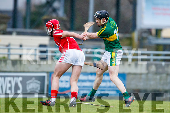 GOAL! Colm Harty Kerry scores a goal against Greg Murphy Cork in the Co-op Superstores Munster Senior Hurling League on Sunday 14th January in Austin Stack Park, Tralee.