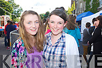 Pictured queuing for the Union J concert at Denny Street on Friday were: Emma O'Shea and Laura Kearney (Cork).