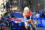 Domenico Pozzovivo (ITA) Bahrain-Merida in action during Stage 1 of the 2019 Giro d'Italia, an individual time trial running 8km from Bologna to the Sanctuary of San Luca, Bologna, Italy. 11th May 2019.<br /> Picture: Eoin Clarke | Cyclefile<br /> <br /> All photos usage must carry mandatory copyright credit (© Cyclefile | Eoin Clarke)