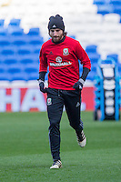 Joe Allen during a Wales Training Session at Cardiff City Stadium ahead of the FIFA World Cup Qualification match against Serbia, Cardiff, Wales on 11 November 2016. Photo by Mark  Hawkins.