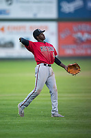 Billings Mustangs left fielder Zeek White (6) during a Pioneer League game against the Idaho Falls Chukars at Melaleuca Field on August 22, 2018 in Idaho Falls, Idaho. The Idaho Falls Chukars defeated the Billings Mustangs by a score of 5-3. (Zachary Lucy/Four Seam Images)