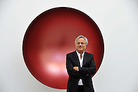Anish Kapoor photocall & press view.  Influential British-Indian artist attends photocall and private view to debut his collection of sculptures which focus on his interplay between form and light.  Lisson Gallery, London, United Kingdom, October 9, 2012. Photo by Nils Jorgensen / i-Images / DyD Fotografos
