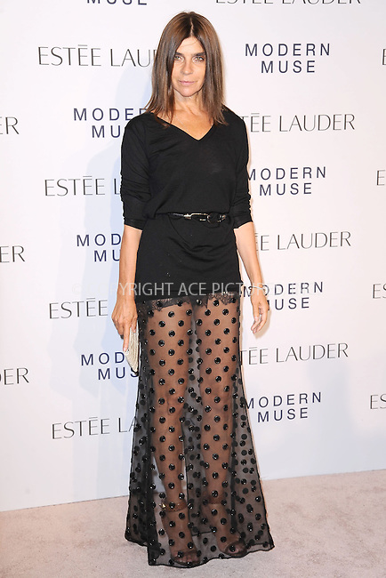 WWW.ACEPIXS.COM<br /> September 12, 2013...New York City<br /> <br /> Carine Roitfeld attending the Estee Lauder 'Modern Muse' Fragrance Launch Party at the Guggenheim Museum on September 12, 2013 in New York City.<br /> <br /> Please byline: Kristin Callahan/Ace Pictures<br /> <br /> Ace Pictures, Inc: ..tel: (212) 243 8787 or (646) 769 0430..e-mail: info@acepixs.com..web: http://www.acepixs.com