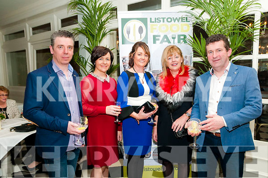 Listowel Food Fair: Pictured at the Listowel Food Fair Awards Dinner on Friday night last at the Listowel Arms Hotel   were Pat & Kay Murphy, Collette Stack, Mary Deenihan & Sheamus Stack.