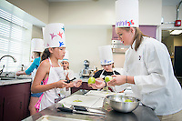 Fun with Food Camp - Food Science teaching children in Moore Hall lab<br />  (photo by Megan Bean / &copy; Mississippi State University)