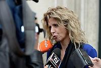 Roma, 4 Ottobre 2018<br /> Barbara Lezzi<br /> La ministra del Sud e della Coesione Sociale, Barbara Lezzi, al termine di una riunione a Palazzo Chigi con Regioni e enti locali sul nuovo bilancio Ue e la riforma della politica di coesione post 2020