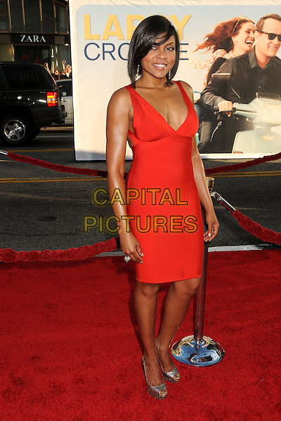 "Taraji P. Henson.""Larry Crowne"" Los Angeles Premiere held at Grauman's Chinese Theatre, Hollywood, California, USA..June 27th, 2011.full length red dress silver peep toe shoes .CAP/ADM/BP.©Byron Purvis/AdMedia/Capital Pictures."