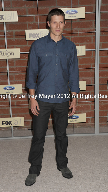 =Culver City=, CA - SEPTEMBER 10: Zach Gilford arrives at the FOX Fall Eco-Casino Party at The Bookbindery on September 10, 2012 in Culver City, California.