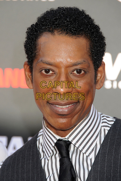 Orlando Jones<br /> &quot;The Lone Ranger&quot; World Premiere held at Disney's California Adventure Park,  Anaheim, California, USA, 22nd June 2013.<br /> portrait headshot black tie white pinstripe shirt <br /> CAP/ADM/BP<br /> &copy;Byron Purvis/AdMedia/Capital Picture