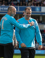 James Murray & Joe Gatto during The Impractical Jokers (Hit US TV Comedy) filming at Wycombe Wanderers FC at Adams Park, High Wycombe, England on 5 April 2016. Photo by Andy Rowland.