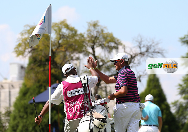 Hi-5 for Wallie Coetsee (RSA) who birdies the 11th during Round Two of the Tshwane Open 2015 at the Pretoria Country Club, Waterkloof, Pretoria, South Africa. Picture:  David Lloyd / www.golffile.ie. 13/03/2015