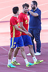 Spanish player Marcc Bartra and Javi Martinez durign the first training of the concentration of Spanish football team at Ciudad del Futbol de Las Rozas before the qualifying for the Russia world cup in 2017 August 29, 2016. (ALTERPHOTOS/Rodrigo Jimenez)