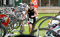 03 MAY 2009 - CALNE,GBR - Nicola Jameson (University of Birmingham) heads out of transition after T1 - BUCS Sprint Triathlon Championships '09. (PHOTO (C) NIGEL FARROW)