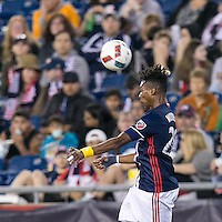 Foxborough, Massachusetts - May 14, 2016: In a Major League Soccer (MLS) match, the New England Revolution (blue/white) defeated Chicago Fire (red), 2-0, at Gillette Stadium.