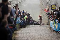 Pieter Weening (NED/Roompot - Charles) in the final ascent up the Paterberg<br /> <br /> 103rd Ronde van Vlaanderen 2019<br /> One day race from Antwerp to Oudenaarde (BEL/270km)<br /> <br /> ©kramon