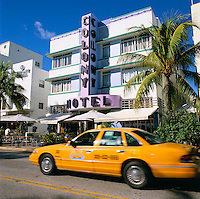 USA, Florida, Miami-Beach: Art Deco District - Colony Hotel on Ocean Drive | USA, Florida, Miami-Beach: Art-Deco-Viertel - Colony Hotel am Ocean Drive